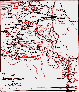The invasion of France - Malines to Valenciennes,deportation was in the opposite direction