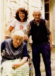 Betty with Victor and Josephine Guicherd at their home - her home - in Dullin